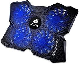 KLIM™ Wind Laptop Cooling Pad – Support 11 to 19 Inches Laptops, PS4 – [ 4..