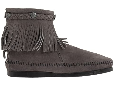 Zip Hi SuedeDusty Black Back Suede GreyTaupe Top Brown Boot SuedeMedium Minnetonka SuedeBrown 0tqdxt