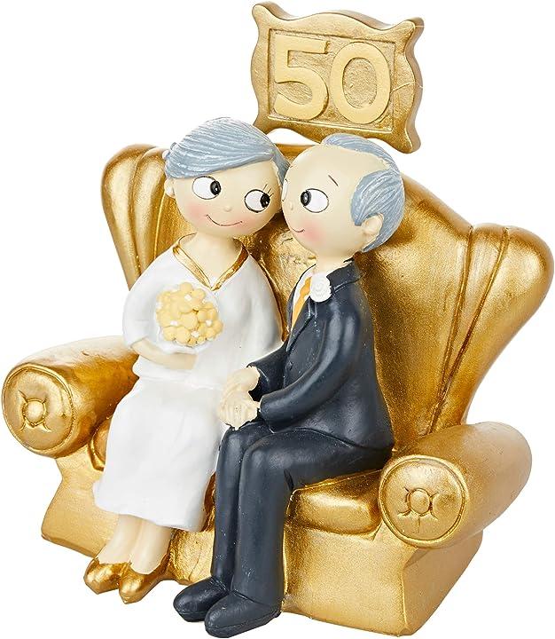Figura per torta di nozze d`oro 50° anniversario mopec pop & fun B01DWJ1NFQ
