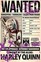 """Harley Quinn: 'Wanted'. Large 24""""×36"""" Size. The Perfect Poster Gift Toobi Poster"""