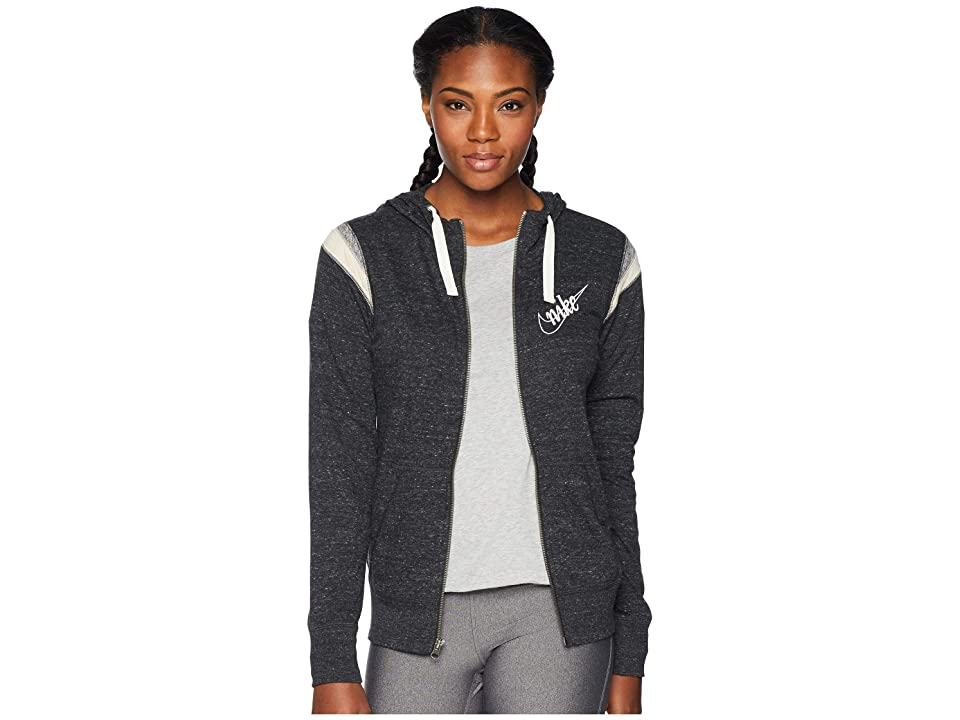 Nike Gym Vintage Hoodie Full Zip HBR (Black/Sail) Women