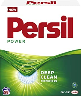 Persil Power Waspoeder, Poeder Wasmiddel, Witte Was, 58 wasbeurten