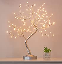 90L Big LEDs Fairy Tree Lamp,6 Hrs Timer Bonsai Tree Light,USB & Battery Operated,Adjustable Branch Artificial Lighted Tre...