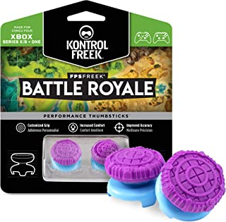 KontrolFreek FPS Freek Battle Royale for Xbox One Controller | Performance Thumbsticks | 2 High-Rise Convex (Domed) | Purple