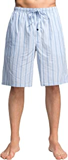 Men's 100% Cotton Plaid Poplin Woven Lounge/Sleep Shorts