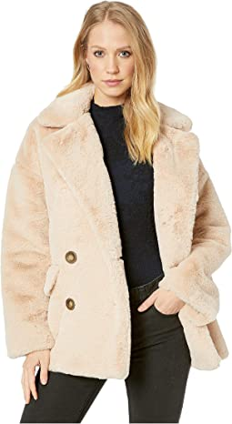 Solid Kate Faux Fur Coat