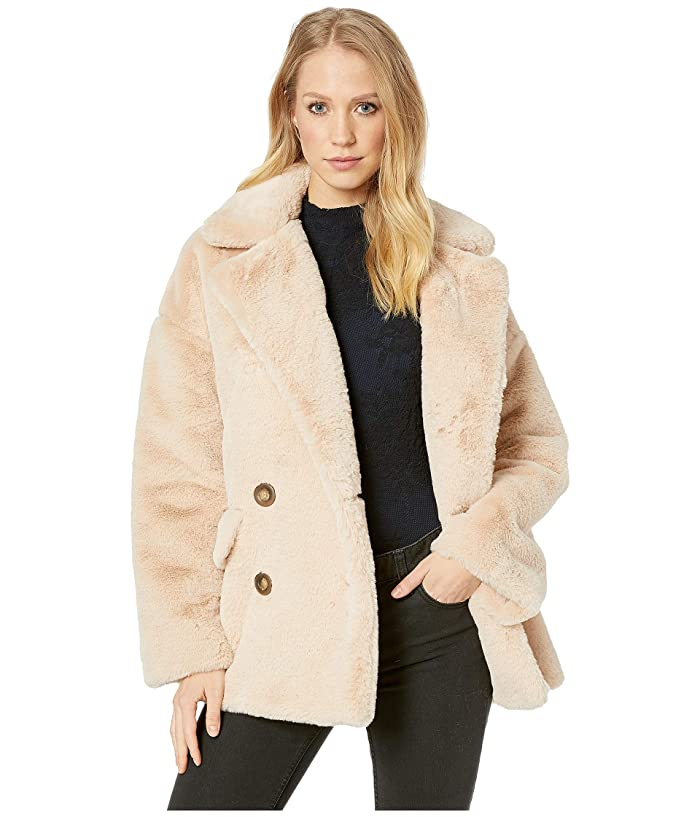 6dba82029583 Free People Solid Kate Faux Fur Coat at 6pm