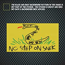 Wcysin No Step On Snek Sticker for Cars and Trucks, 2.5x4.5 in