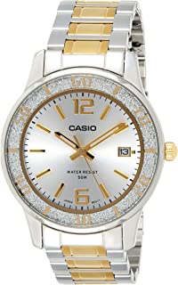 Casio Dress Analog Display Watch For Women Ltp-1359Sg-7A, Silver Band
