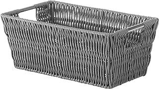 Whitmor Rattique Small Shelf Tote Grey
