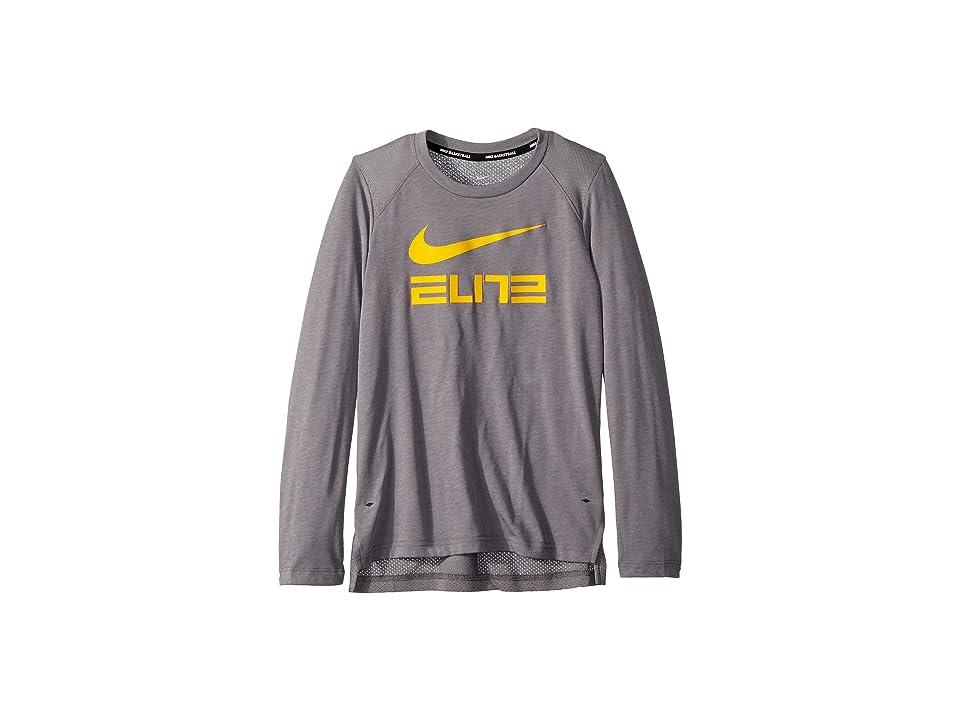 cba6f8e2da Nike Kids Dry Elite Basketball Long Sleeve Top (Little Kids/Big Kids) (