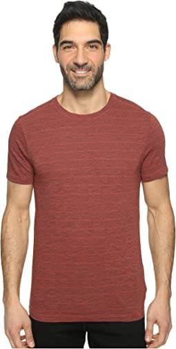 Pete Short Sleeve Crew Neck Tri-Blend Stripe