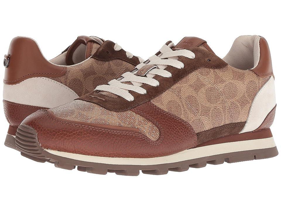 60s Shoes, Boots | 70s Shoes, Platforms, Boots COACH Signature C PVC C118 Runner KhakiMocha Mens Shoes $250.00 AT vintagedancer.com