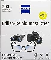 ZEISS Brillen-Reinigungstücher 200 Stück zur schonenden & gründlichen Reinigung Ihrer Brillengläser - jedes Tuch einzeln...
