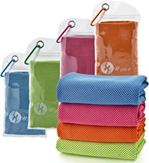"U-pick 4 Packs Cooling Towel (40""x 12""), Ice Towel,Microfiber Towel,Soft.."