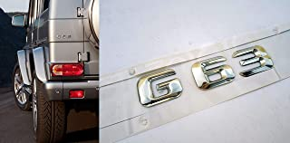 W463 G63 AMG style Tail Emblem Chrome Badge Rear Sticker Logo Letters for Mercedes-Benz W463 G-Class