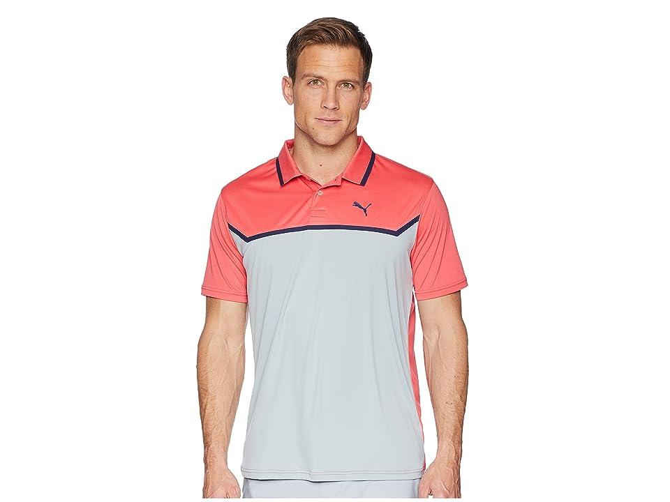 PUMA Golf Bonded Tech Polo (Paradise Pink/Quarry) Men