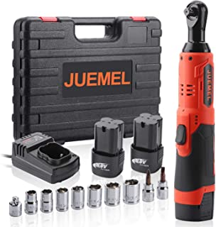 "16.8V Cordless Ratchet Wrench Kit, JUEMEL Electric Ratchet Wrench 3/8"" 46 N·m 400.."
