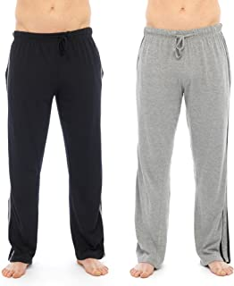 Modern Casuals 2 Pack Mens Plain Pyjama Lounge Bottoms Pants with Insignia 6 Pairs of Lounge Socks