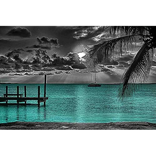 Teal Beach Wall Decor for Bedroom: Amazon.com