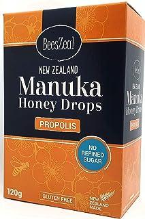 BeesZeal New Zealand Manuka Honey Drops No Refined Sugar Propolis 120g 20 Servings
