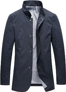 neyouqe メンズ ジャケット テーラードジャケット スウェット ビジネス カジュアル アウター 細身 立襟 ストレッチ防風防寒 おしゃれ