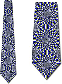 Optical Illusion Ties Mens Hypnotic Necktie by Three Rooker