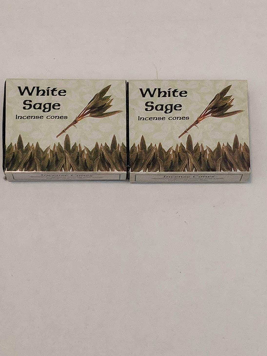 コンデンサースクラップブックずっとKamini ホワイトセージ線香 マルチパック 2 Packs (20 Cones) ブラウン