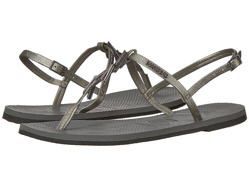 Havaianas You Riviera Maxi Sandals (Steel Grey) Women