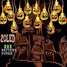 SanXingRui Calabaza Luces de Cadena 20 Leds 3 Metro Lantern Luces de la Calabaza para Halloween Decoraciones de Navidad