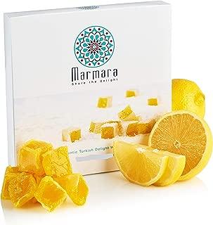 Marmara Authentic Fruit Turkish Delight Candy / Sweet Confectionery Gourmet Gift Box Candy Dessert (Lemon, Medium)