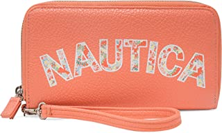 Nautica womens Heritage Logo Dbl Zip Around