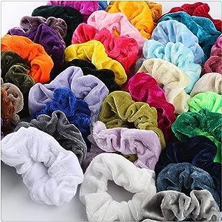 Auwer 40 Pcs Premium Velvet Hair Scrunchies Hair Bands Scrunchy Hair Ties Ropes Scrunchie for Women or Girls Hair Accessories