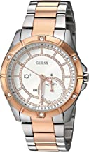 GUESS Women's Connect Fitness Quartz Watch with Stainless-Steel Strap, Two Tone, 18 (Model: C2002L3)