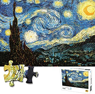 1000 Piece Puzzles Starry Night Jigsaw Puzzle for Adults Teen Kids- Difficult and Challenge, Pieces Fit Together Perfectly Funny Family Games, Home Decoration