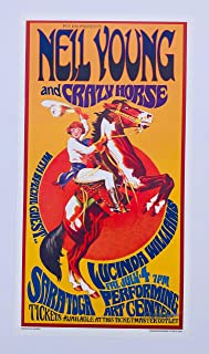 Bob Masse Neil Young and Crazy Horse Lucinda Williams Rock Concert Poster Signed by Artist