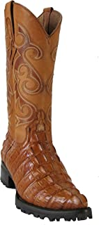 bda9a3f28f3a Hand Made Men s New Crocodile Alligator Tail Design Biker Cowboy Western  Boots J-Toe Cognac