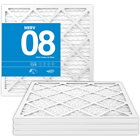 4 Pack 14x14x1 MERV 8 Pleated AC Furnace Air Filters