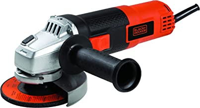 Black and Decker 820W 115mm Small Angle Grinder with 1 Grinding Disc and 6 Cutting Discs