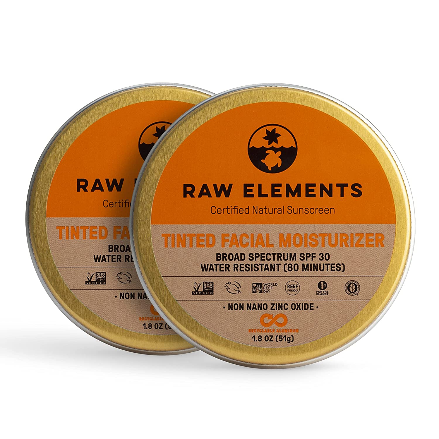 Raw Elements Very popular Tinted Facial Moisturizer Sunscre Popular products Natural Certified