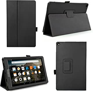 Case for All-New Fire HD 10 2017 - Premium Folio Case for All-New Fire HD 10 Tablet with Alexa 7th Generation (Fire HD 10 (7th Gen), Black)