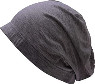 WDSKY Womens Sleep Cap Hat Soft Bamboo with Elastic Band