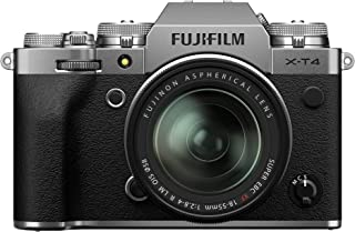 Fujfilm X-T4 Mirrorless Digital Camera XF18-55mm Lens Kit - Silver