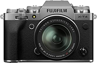 Fujifilm X-T4 Mirrorless Digital Camera XF18-55mm Lens Kit - Silver