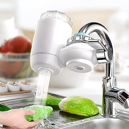 Système de Purificateur de Robinet, minghaoyuan Filtre à eau pour Robinet de Cuisine, Purificateur d'eau du Robinet à la Maison Retirez la Nocive S'adapte sur Tous Les Robinets Standards