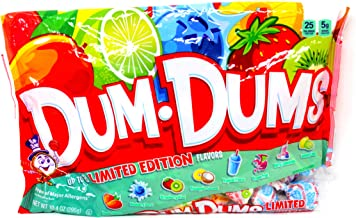 Spangler Dum Dums Lollipops Candy Limited Edition Flavors, (Pack of 3) 10.4 oz