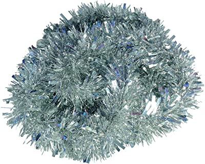 Green Thick Chunky Luxury Metallic Christmas Tree Tinsel Decoration