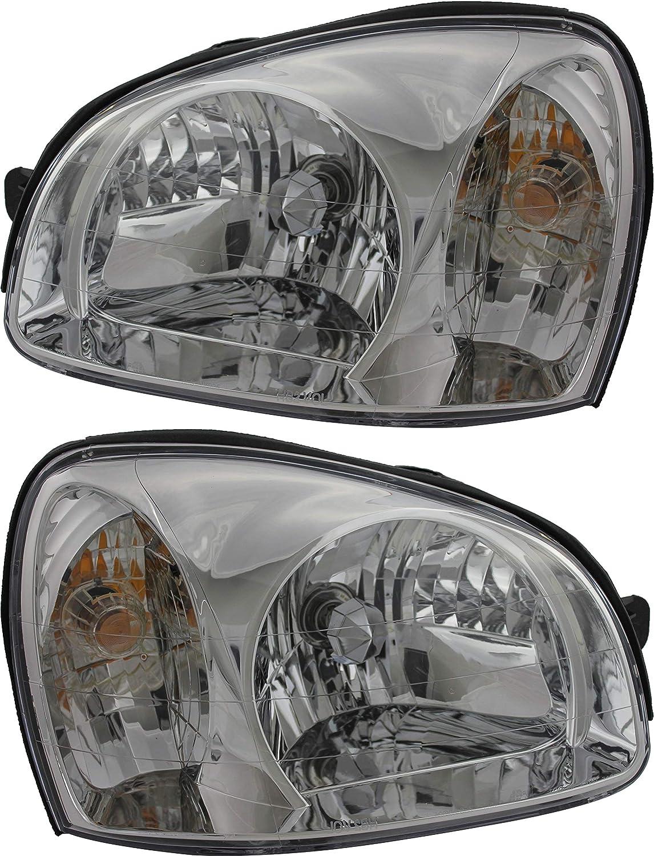 いつでも送料無料 For Hyundai Santa Fe Headlight 2003 Driver 2005 2006 2004 ◆セール特価品◆ and Pa