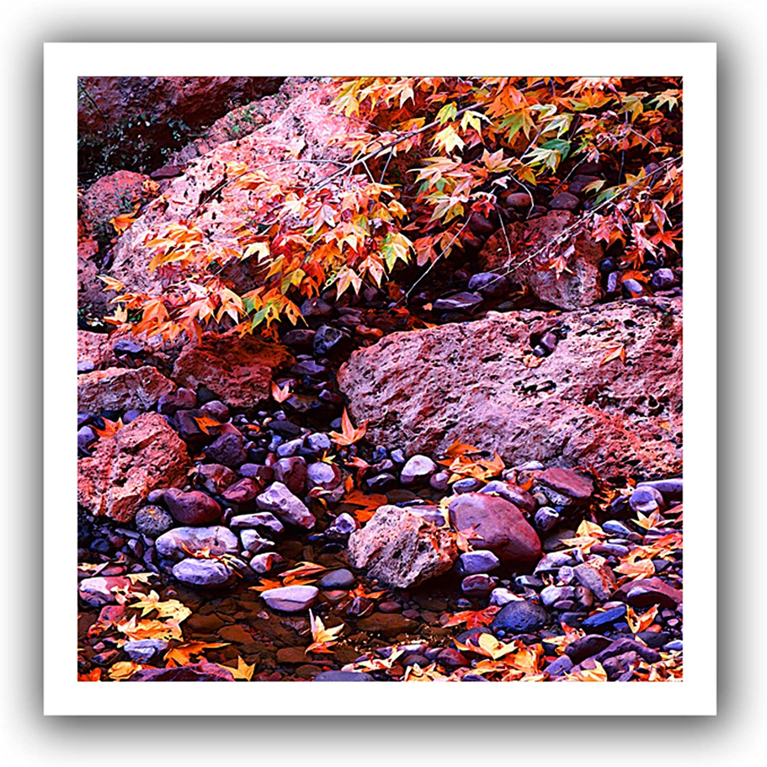 ArtWall Dean Uhlinger 'Pine Creek' Flat Unwrapped Canvas Artwork, 18 by 18Inch, Holds 14 by 14Inch Image