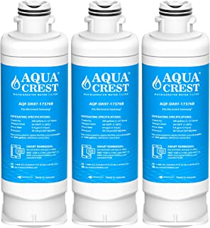 AQUACREST DA97-17376B Refrigerator Water Filter, Compatible with Samsung DA97-17376B, DA97-08006C, HAF-QIN, HAF-QIN/EXP (Pack of 3)